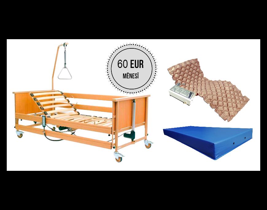 Funkcionālās gultas noma ar pretizgulējumu matraci