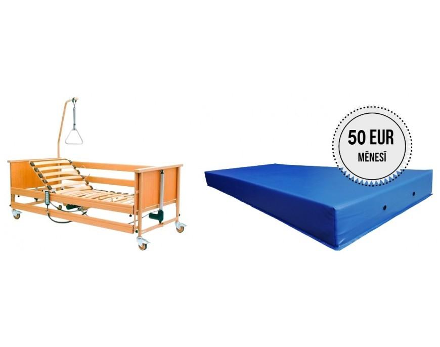 Funkcionālās gultas noma ar matraci